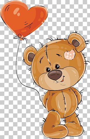 Oso De Peluche Globo Stock Photography Oso Con Un Globo De Amor Oso Sosteniendo Corazon En Form Balloon Illustration Baby Elephant Drawing Teddy Bear Cartoon
