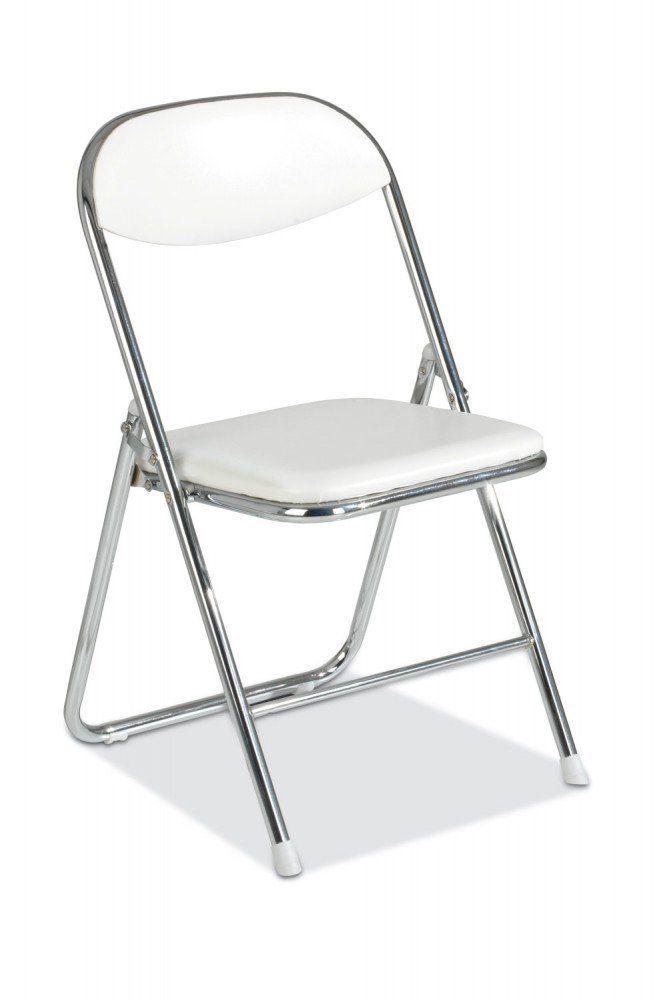 Klappstuhl Stuhl Kunstleder Weiss Belise Amazon De Kuche
