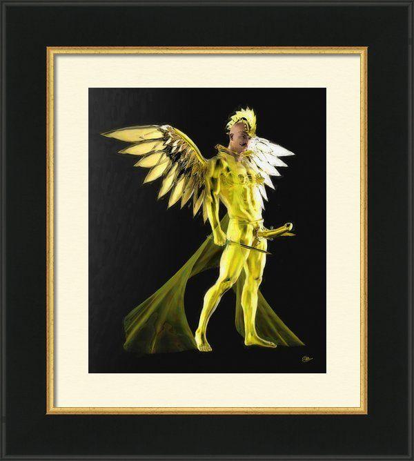 Angel Of Bishops Framed Print by Joaquin Abella | Ilustraciones y Dibujo