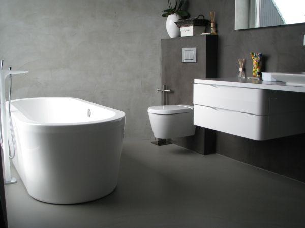 gietvloer wanden badkamer – devolonter, Badkamer