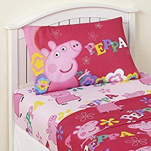 Amazon Com Twin Sheet Sets For Girls 3 Piece Kids Peppa Pig