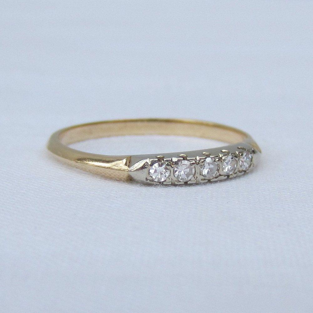 18k Two Tone White Yellow Gold Wedding Band Mens Man Domed Milgrain Ring 6 5mm Mens Wedding Rings Silicone Wedding Rings Mens Gold Wedding Band