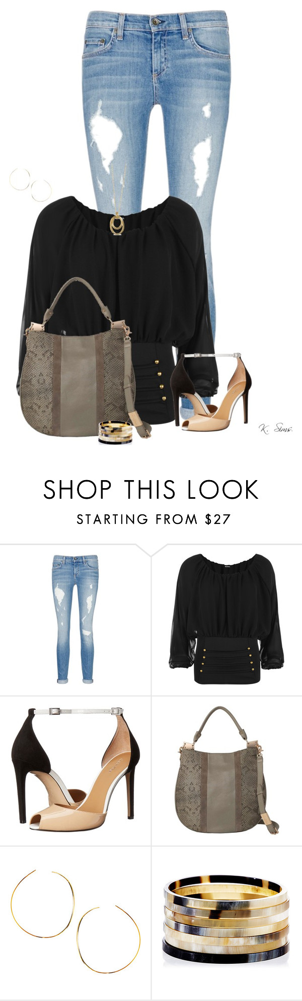 """Boho Top"" by ksims-1 ❤ liked on Polyvore featuring rag & bone/JEAN, WearAll, Calvin Klein, Foley + Corinna, Lana, Nest and Karen Kane"