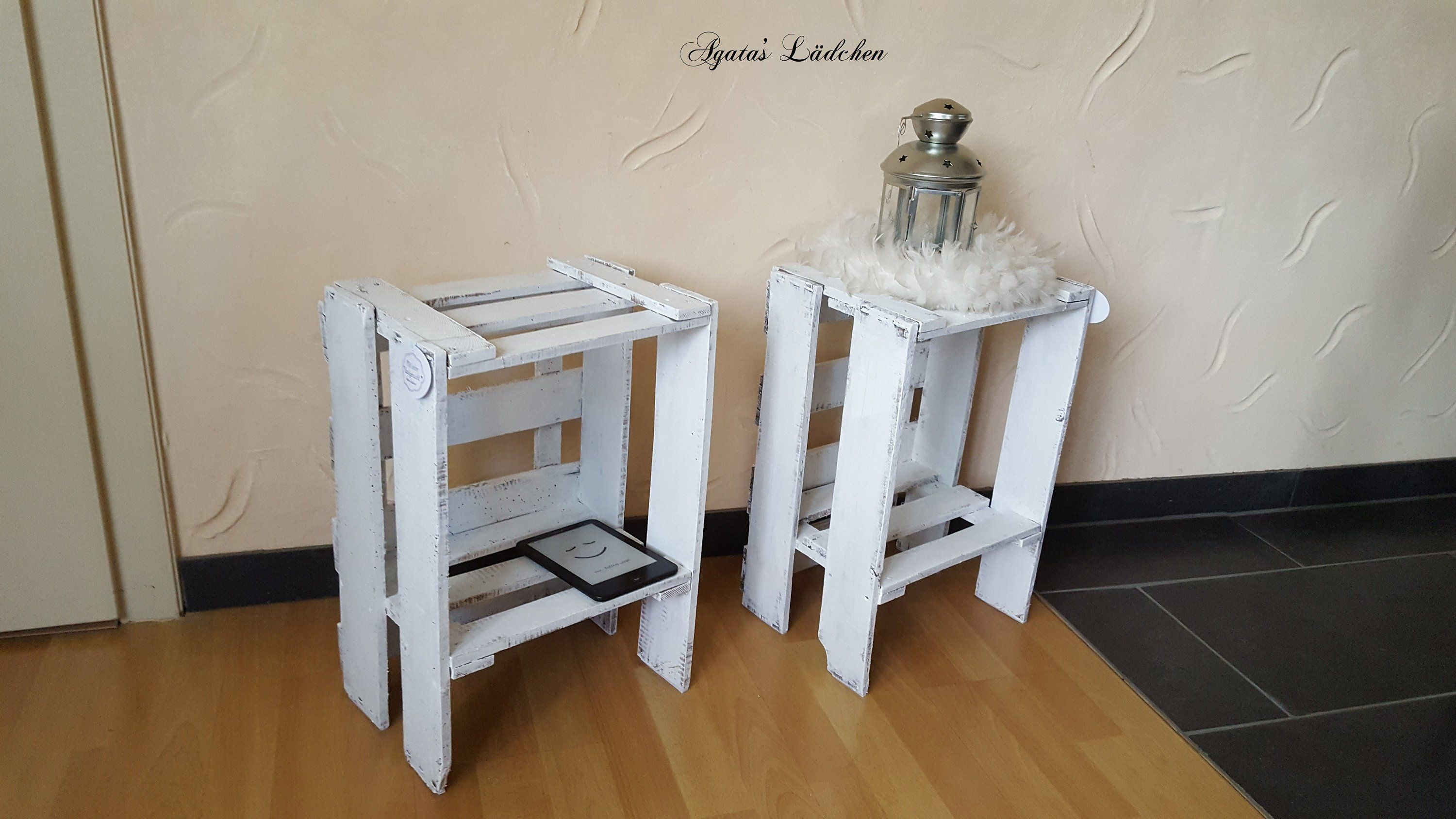 Nachttisch Weiß Vintage Shabby Chic Bedside Table Set