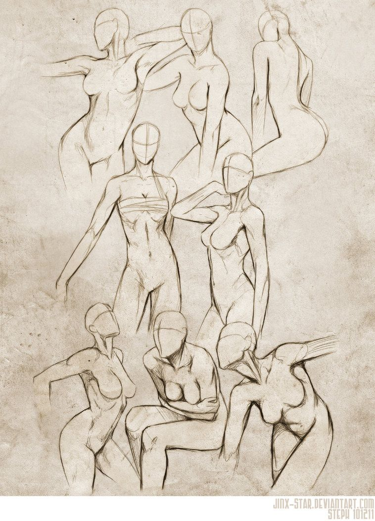 Sketches of womens bodies female body study ii by jinx star