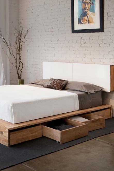 Cama com plataforma de MDF   Camas   Pinterest   Bedrooms and Decoration