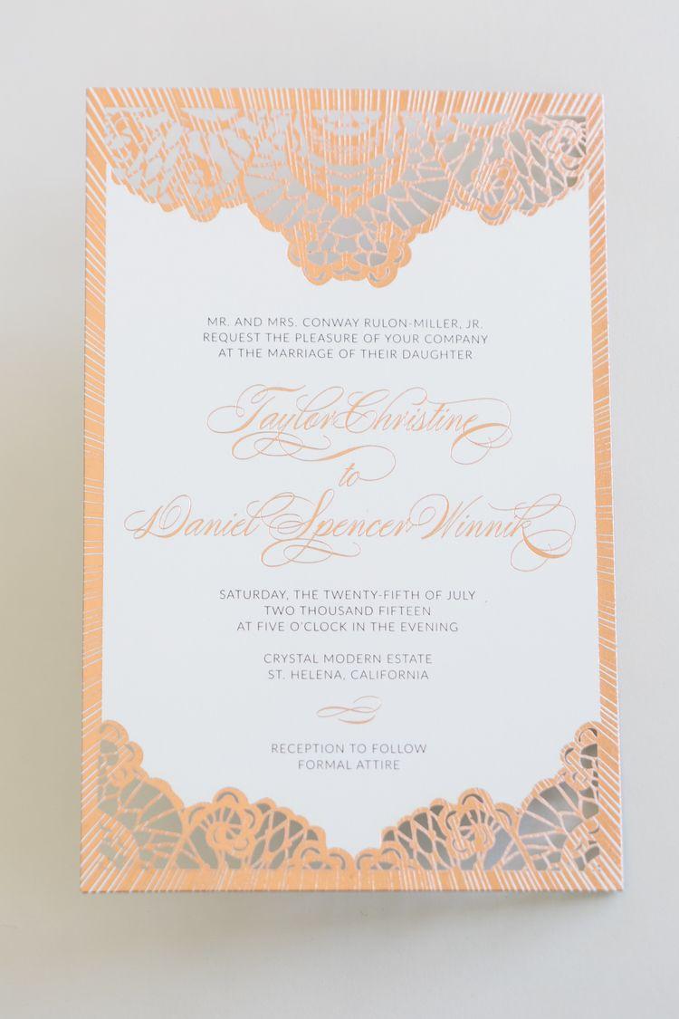 wedding invitation design psd%0A Yonder Design   Laser cut  Foil  Rose Gold Foil  Wood Veneer  Wedding