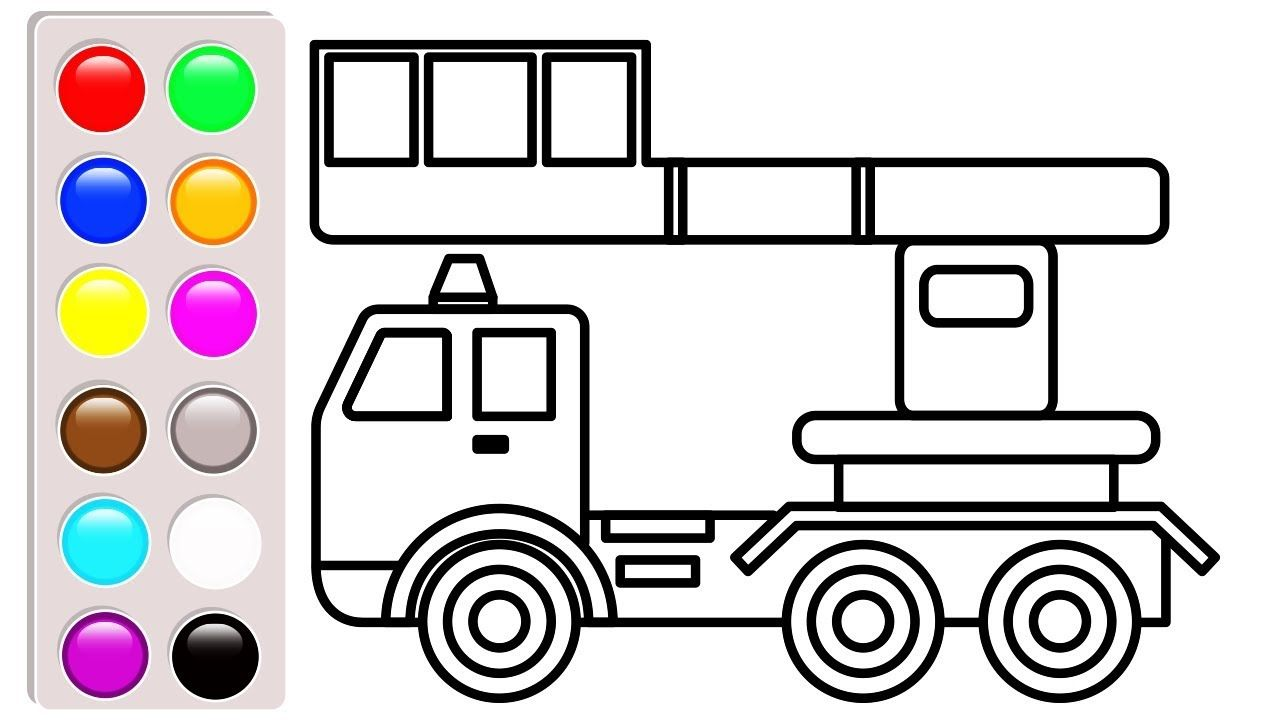 Car And Truck Coloring Pages Construction Vehicles Book Video