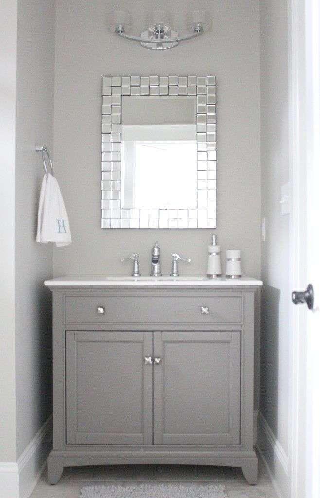 Come arredare il bagno con il grigio - Mobile bagno grigio chiaro ...
