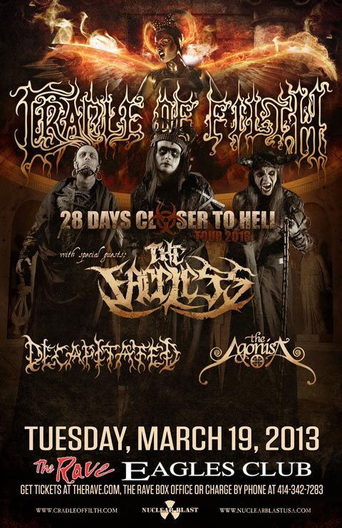 Cradle Of Filth Live In Concert At The Rave March 19 2013 Canceled