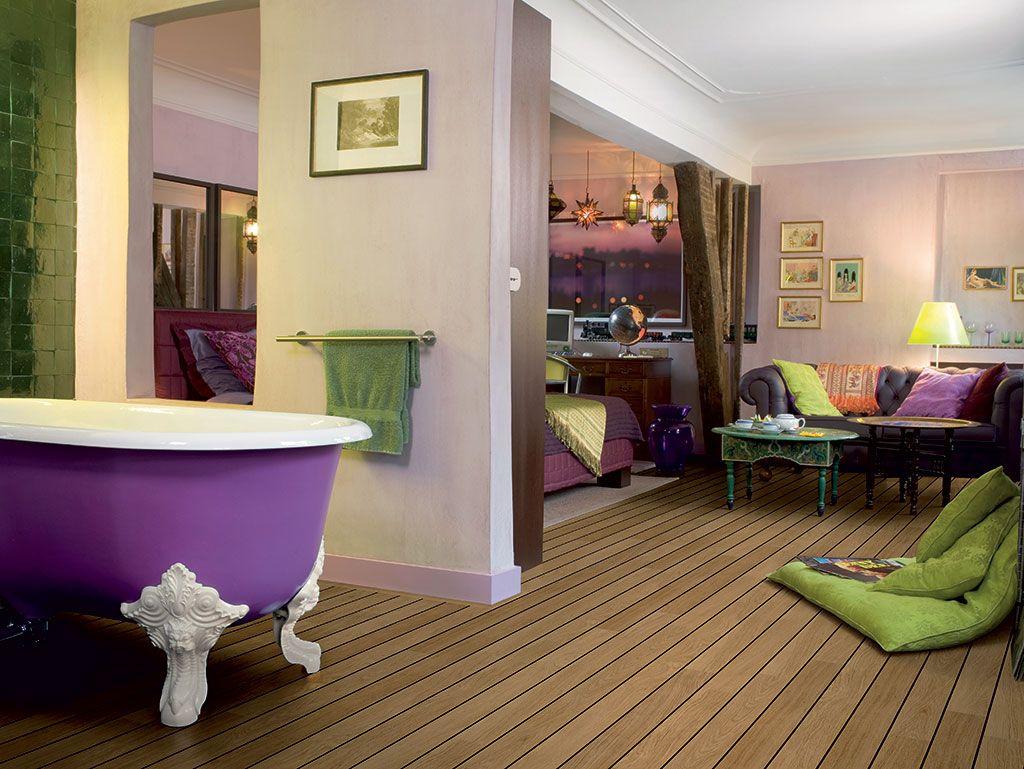 QuickStep Laminate Flooring Lagune Natural Varnished Oak - Quick step lagune bathroom laminate flooring for bathroom decor ideas