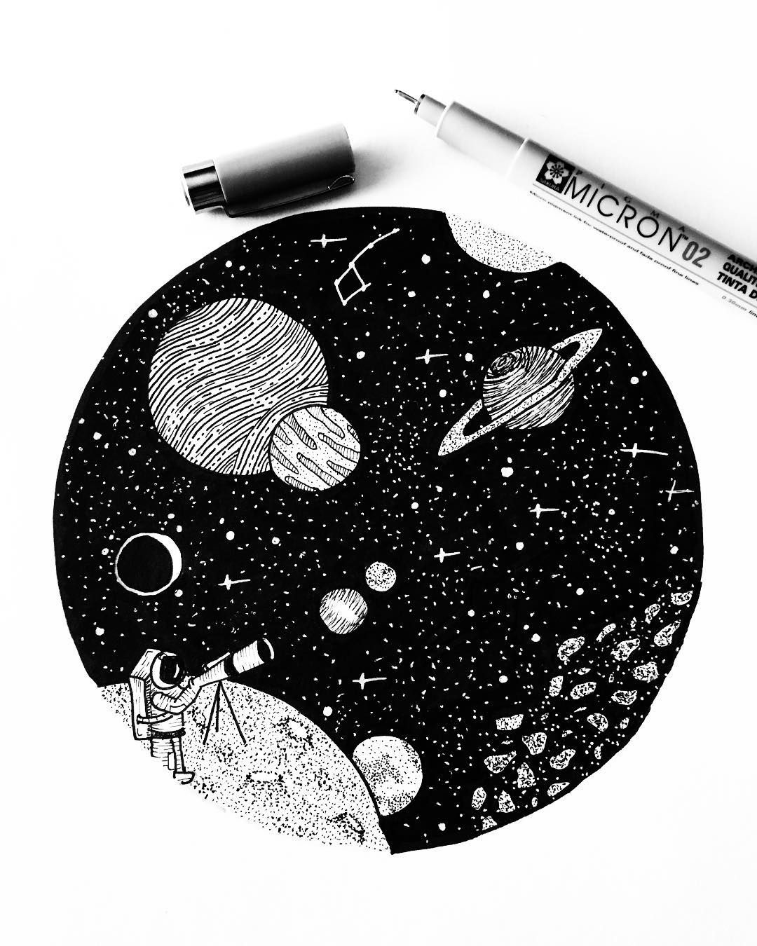 astronomy drawing tumblr - 736×888