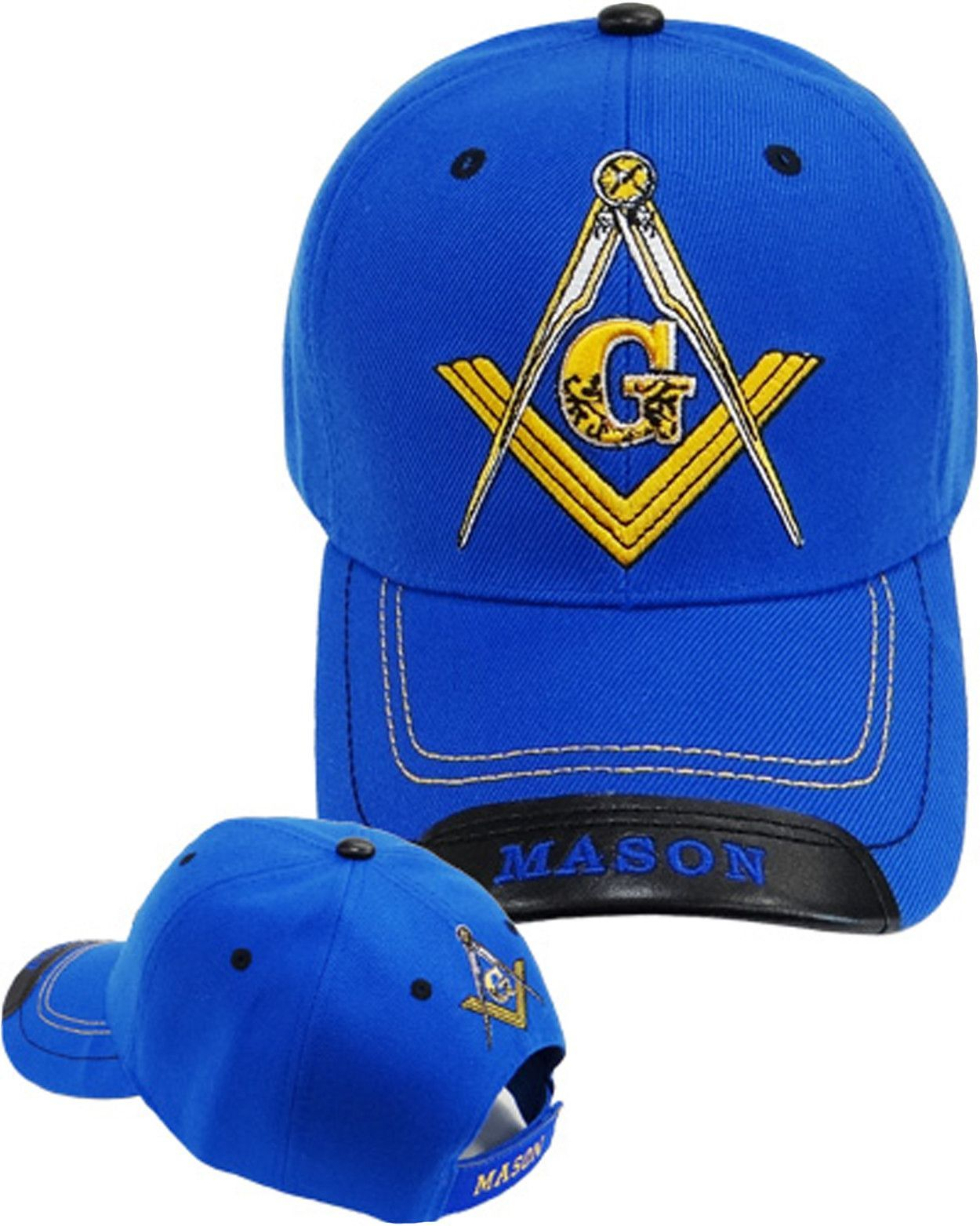 1fd7640af Mason Hat Blue Baseball Cap with Masonic Logo Freemasons Shriners Prince  Hall Lodge Headwear