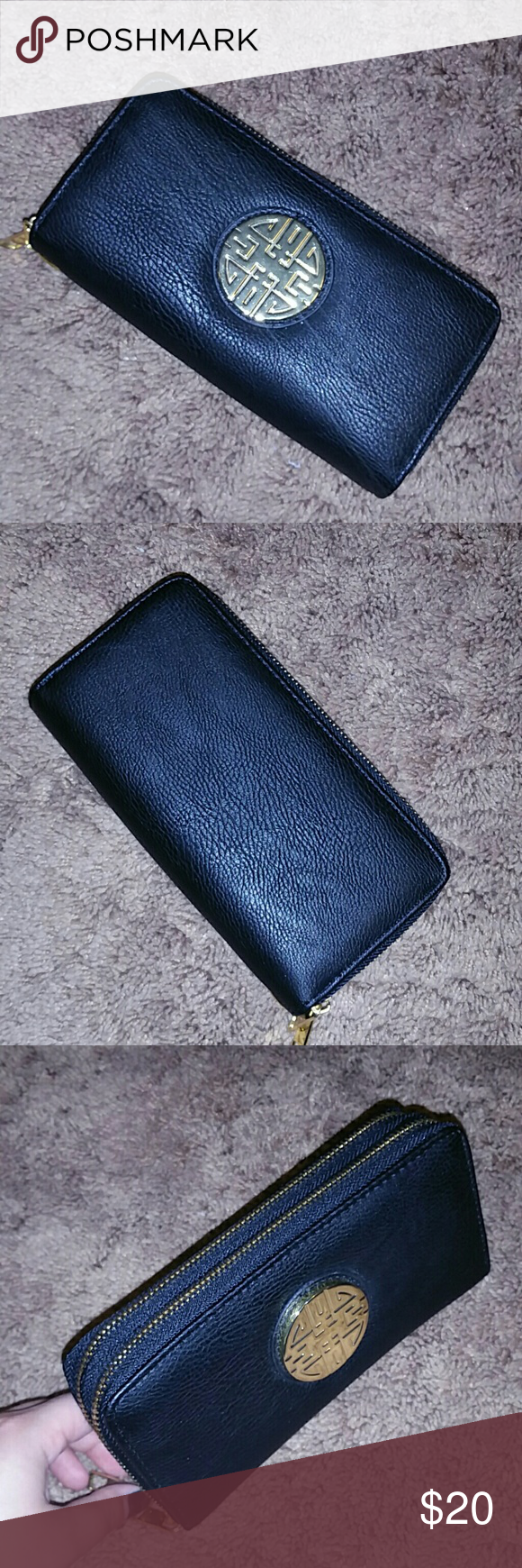 NEVER USED Black Wallet Multiple card slots. Big enough to fit a Galaxy Note 4/ iPhone s6 plus. Bags Wallets
