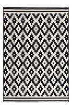 Teppich Flachflor Scandiq Arabesque Design Modern Teppiche Schwarz