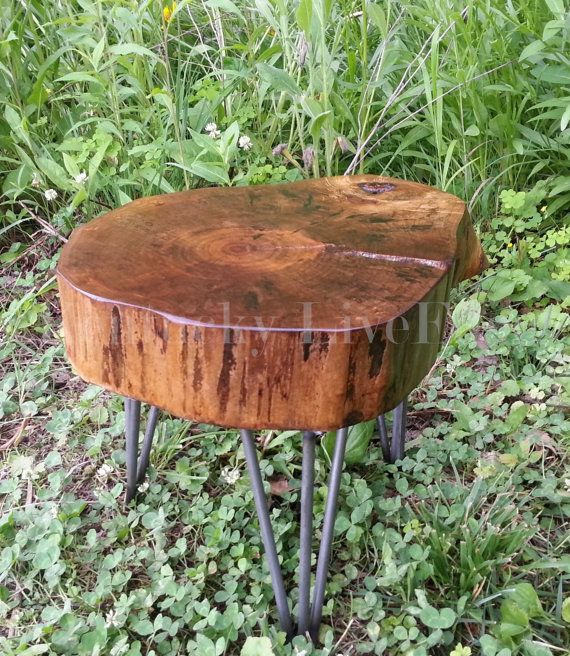 Plant Stand  Log Table  Tree Stump  End Table  Drink Stand  Side Table  Wood  Stool  Eco Friendly  Live Edge Furniture  Display Table  Tree