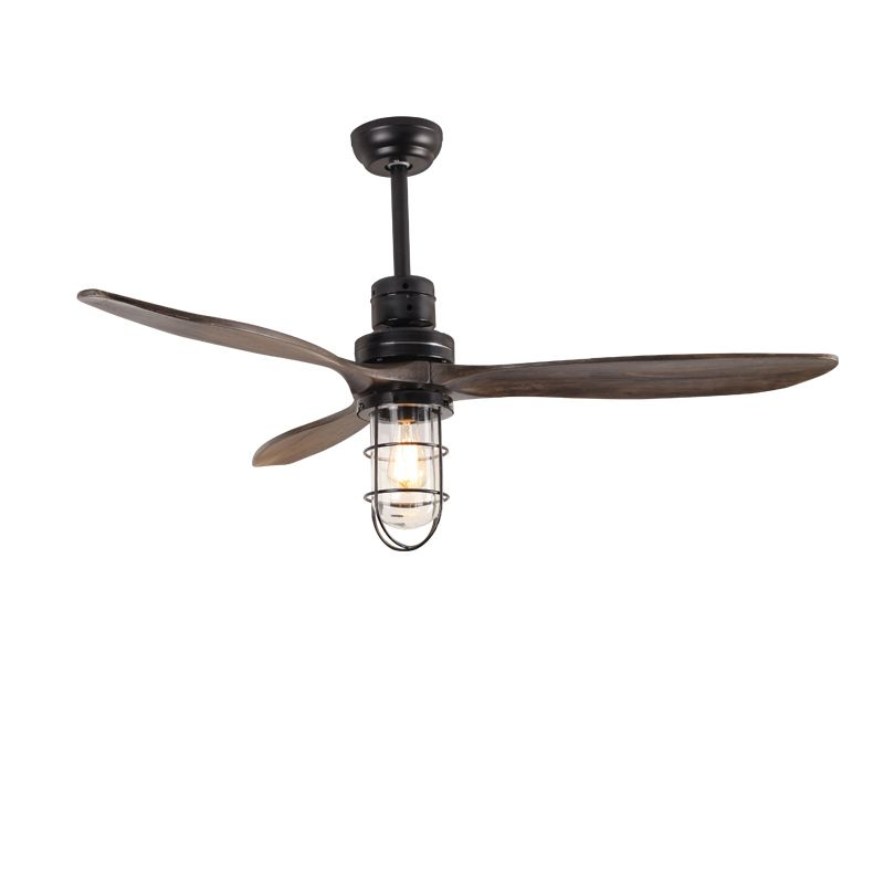 Vintage 42inch Led Ceiling Fan With Lights Remote Control For