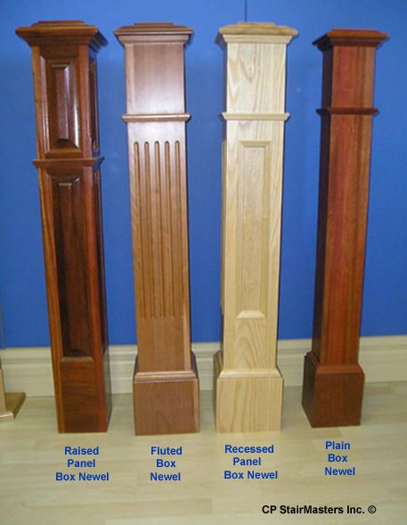 Best Wood Newels Product Custom Square Inlay Box Newel Diy 400 x 300