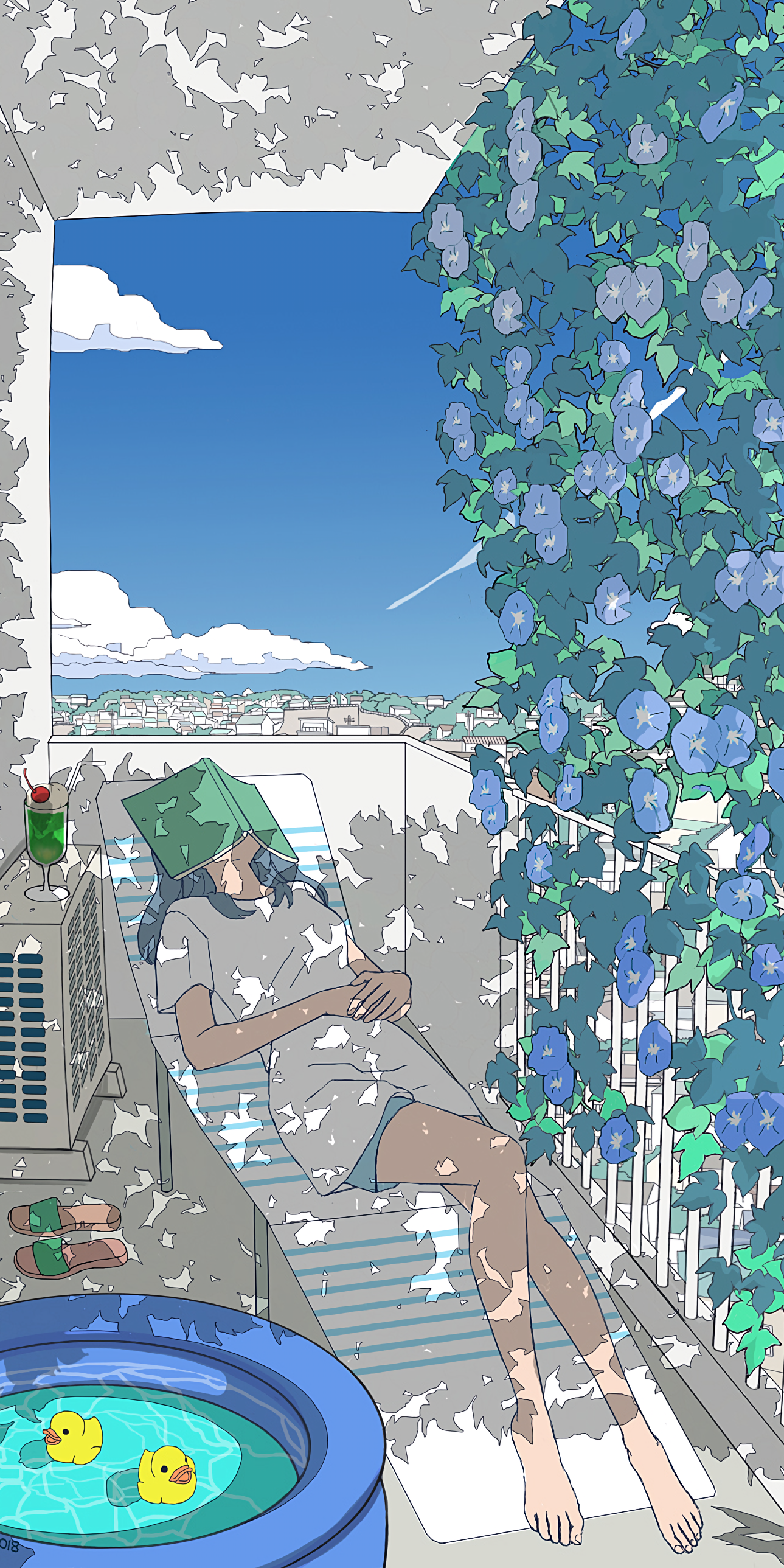 A Summer Afternoon [Original] (2577 x 1289) / Full-scale in comments/