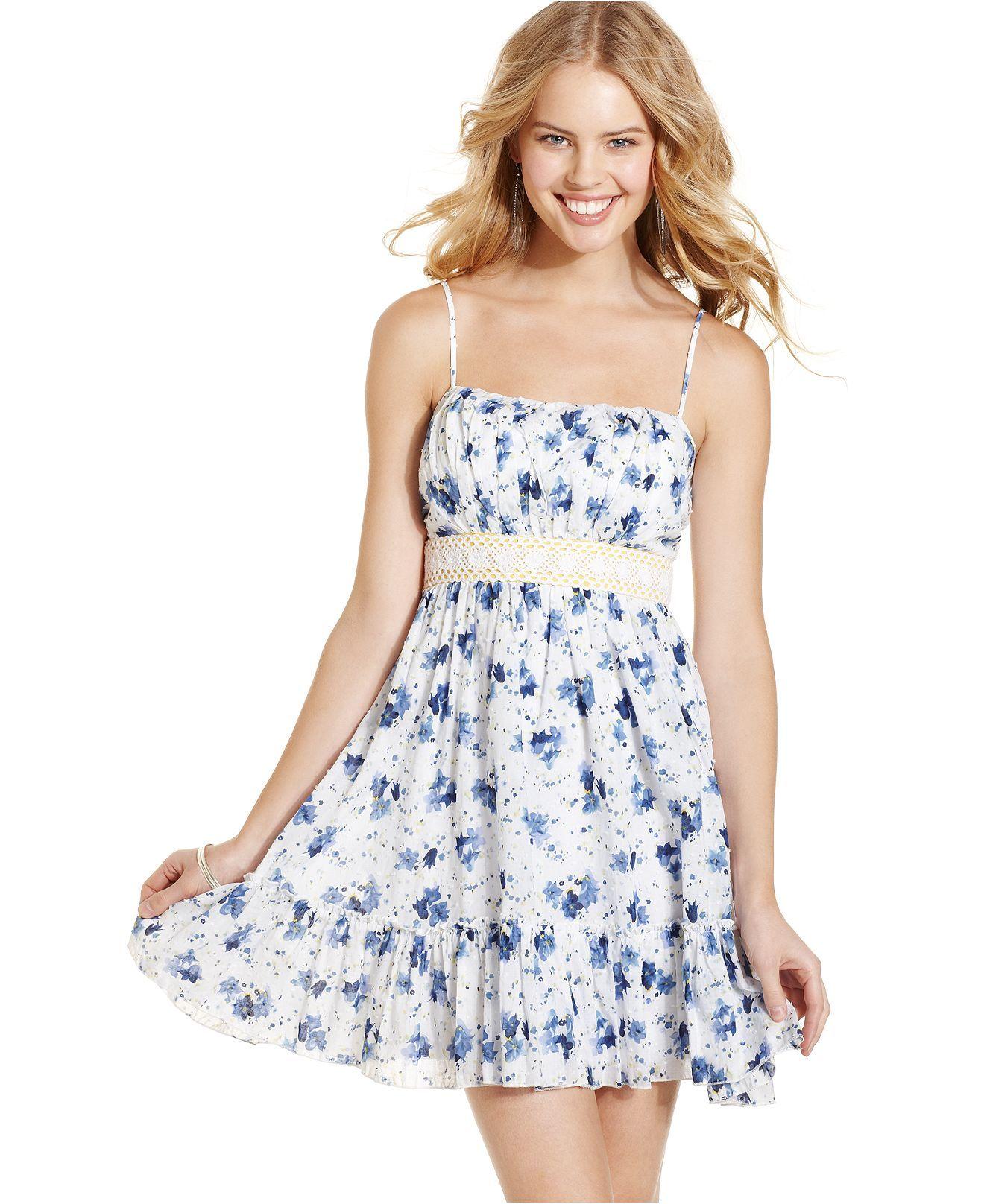 Trixxi Juniors Dress Sleeveless Floral Print A Line Juniors Dresses Macy S Dresses Junior Dresses Trixxi Dress [ 1616 x 1320 Pixel ]