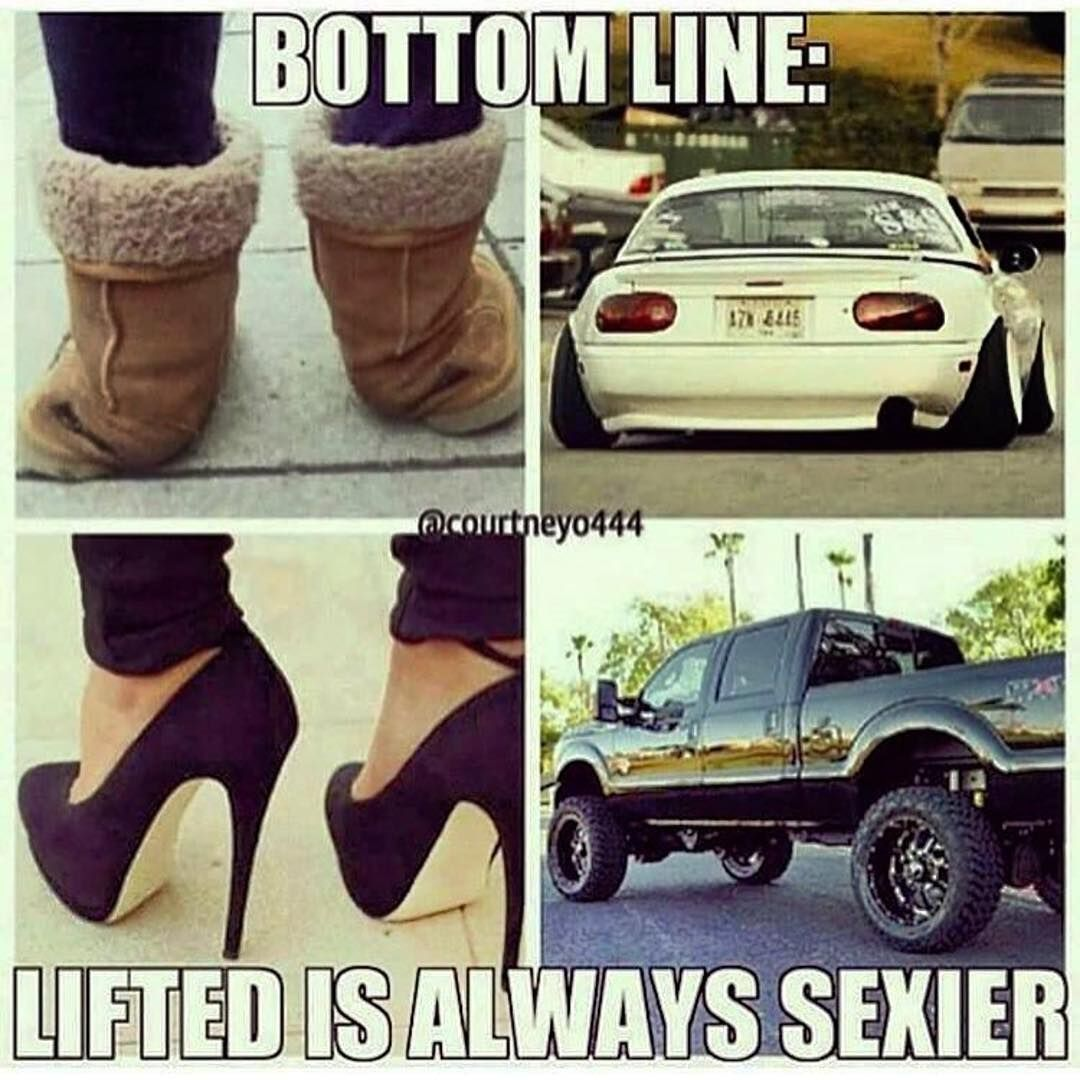Some Lowered Cars Are Clean Tho Truck Memes Lifted Chevy Trucks