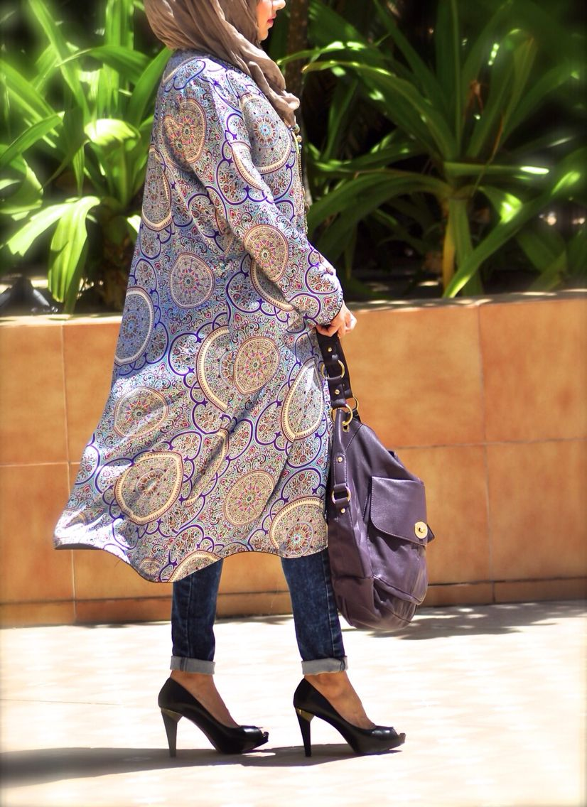 Printed Kimonos available to order from www.mypinkhijab