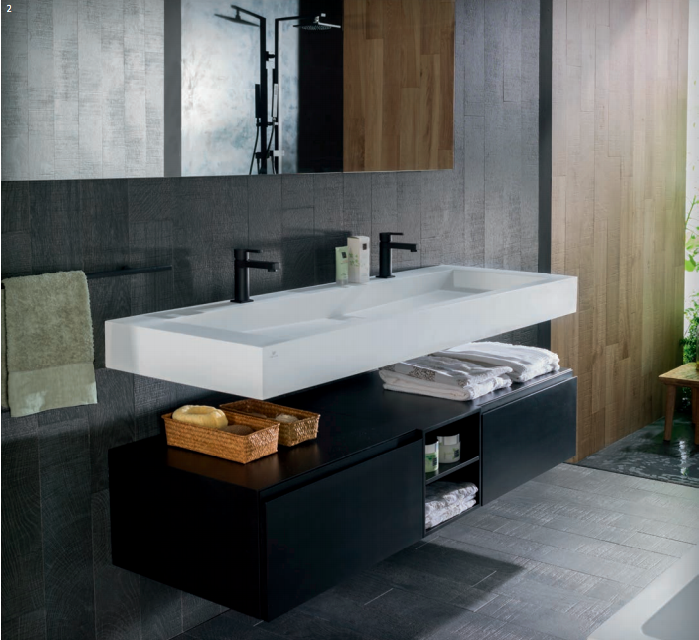 Porcelanosa Ras Worktop   Love This Sink And Also The Way The Cabinet Works  Beneath It.
