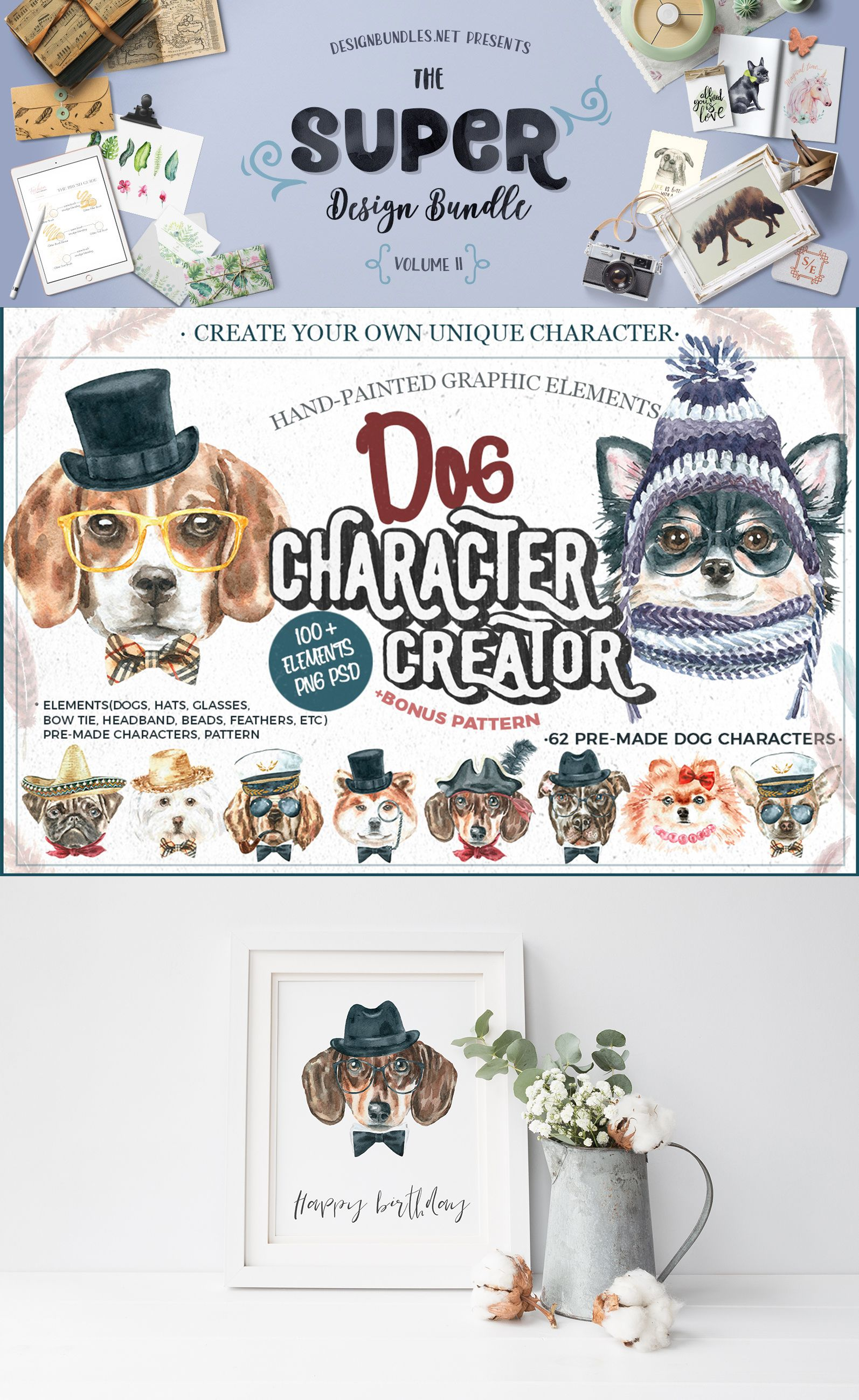 Dog Character Creator included in the Super Bundle. Get