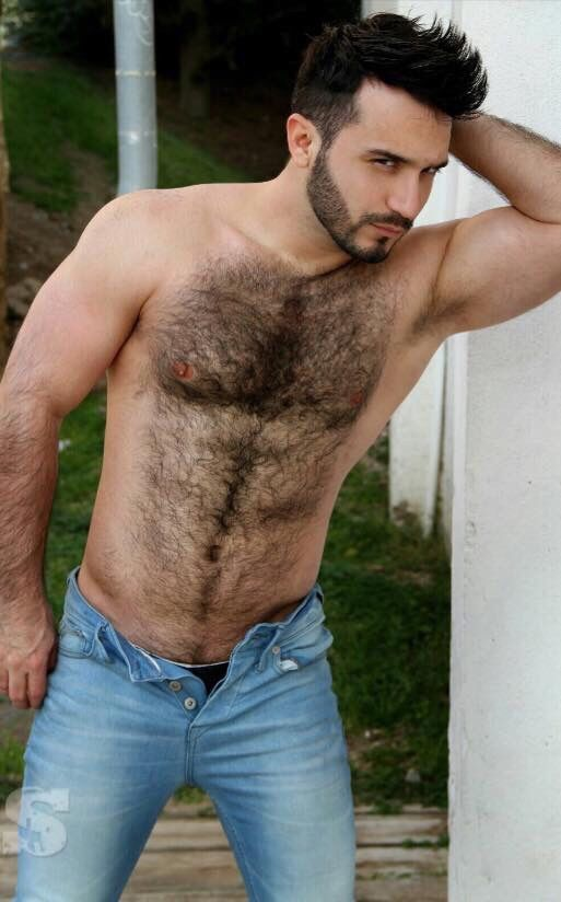 Hairy chested guys