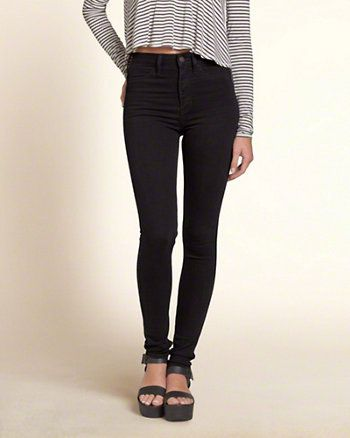 Girls Hollister High Rise Super Skinny Jeans  4af345a09ea