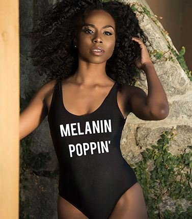 20d934ff24770 Melanin Poppin bathing suit. black beauty, melanin, melanin queen, bathing  suit,