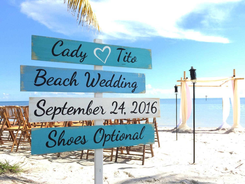 Newlywed Gift Wedding Decor Beach Sign Wood Nautical Directional