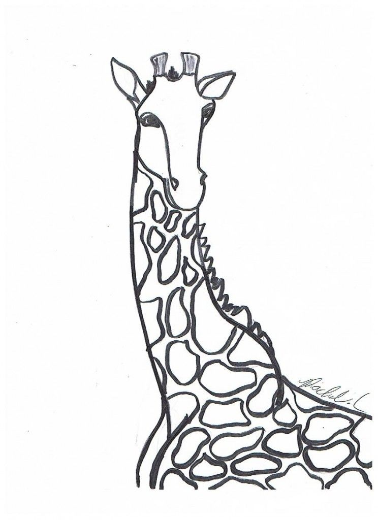 Printable Giraffe Coloring Pages For Adults in 2020