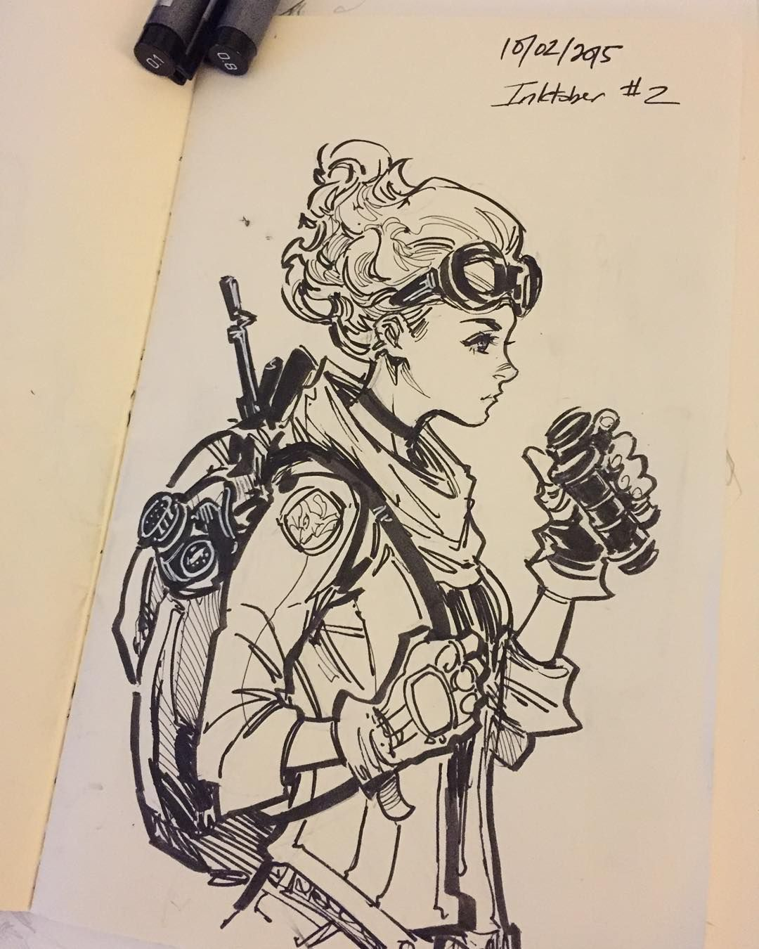 Inspirational Drawings: Character Ink Drawing