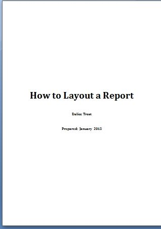 laying out your report - new business writing tip from Griffin