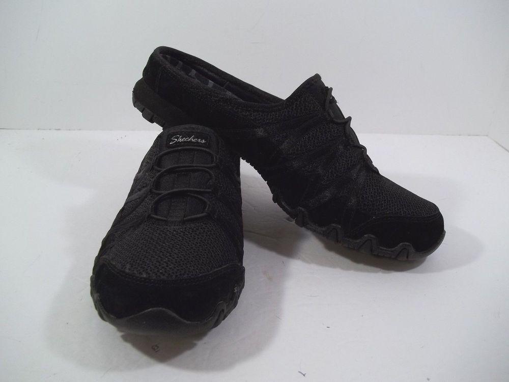 2b9903e0b2d Skechers Relaxed Fit Memory Foam Women Black Clog Mule Shoe SIZE 9.5 ...