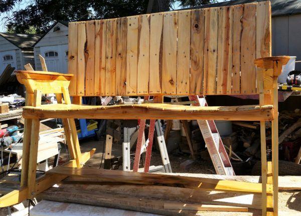 pallet bar bench banco hecho con pallets ecoideas pinterest