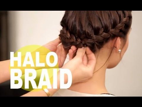Halo Braid For Short Hair Fine Hair Hair The Beauty Authority Newbeauty Braids For Short Hair Short Hair Styles Short Hair Updo