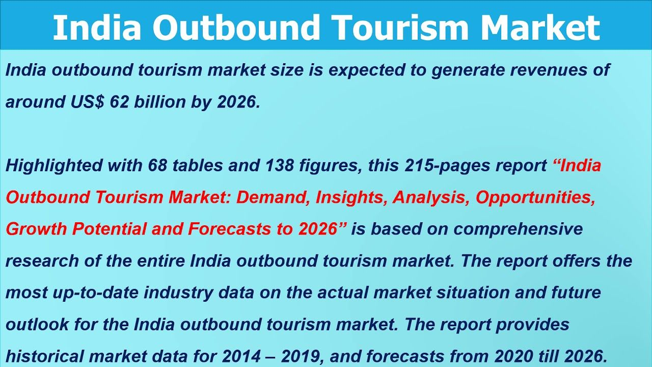 India Outbound Tourism Statistics Latest Tourism Marketing