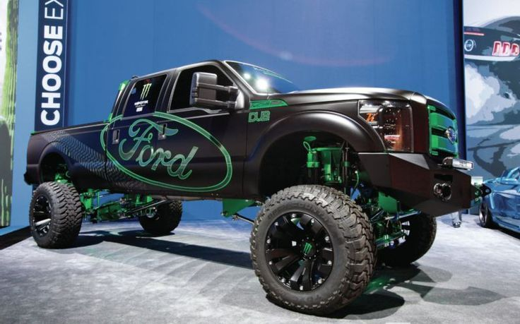 Monster Ford 4X4 Lifted Jacked Up Pickup Truck  Fantasy Wheels