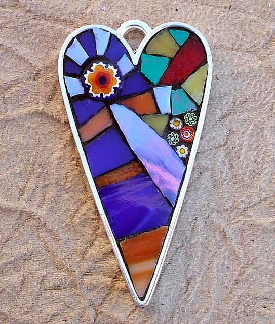 Mosaic Heart Pendant by Bamasusanna, via Flickr