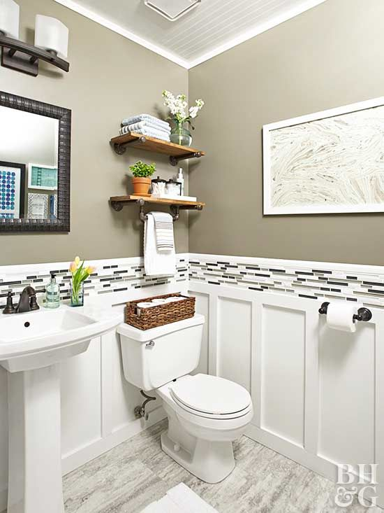 Budget Friendly Tips For Renovating A Powder Room Small Bathroom Decor Small Bathroom Remodel Small Bathroom Renovation