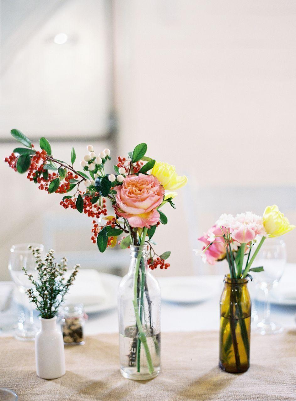 Rustic Centerpieces   Cotton blossom, Centerpieces and Reception