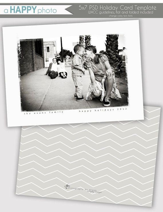 Grunge Frame, Holiday Photo Card Template, Photographers, PSD, WHCC ...