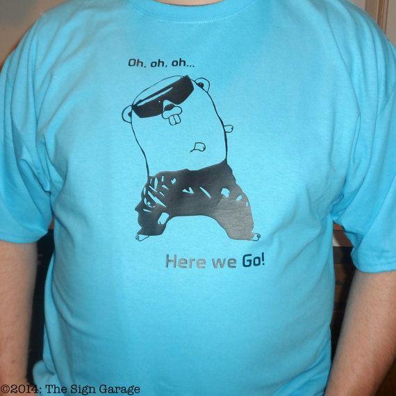 Go Golang Hammer Tee Shirt
