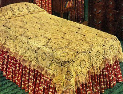 Pineapple Frosting Bedspread Pattern Knitting Pinterest