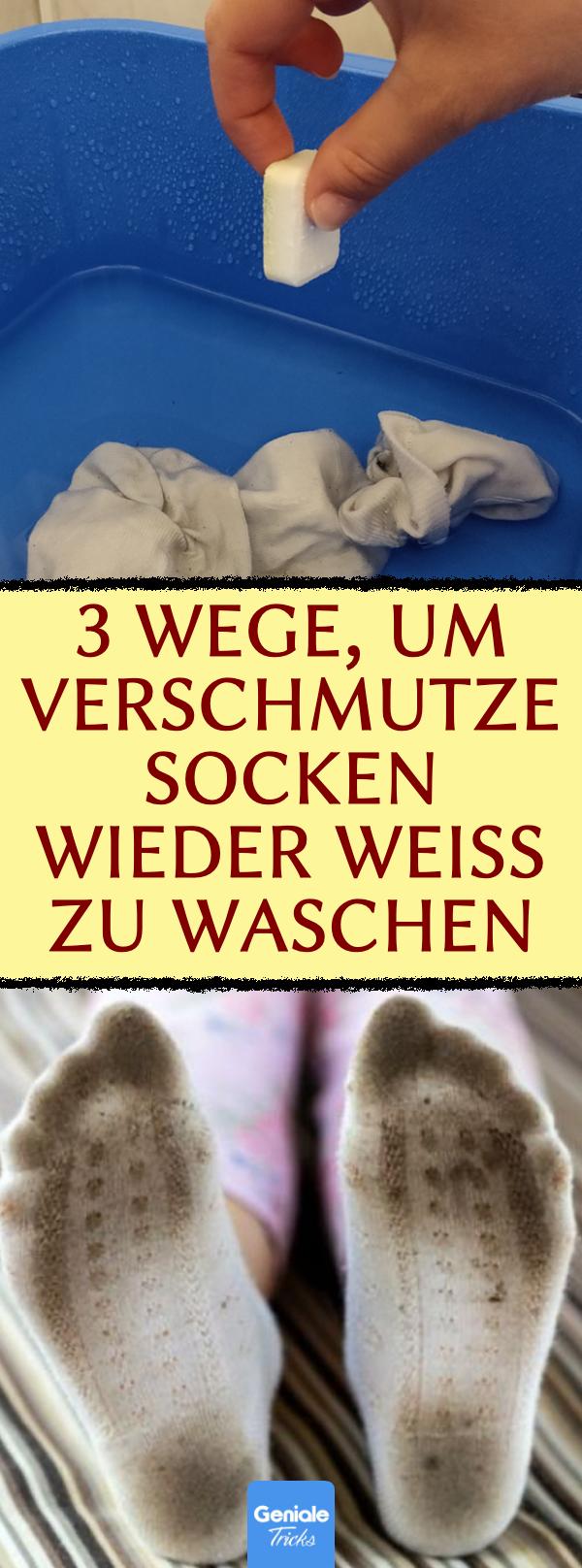 4 Tricks, um vergilbte Socken wieder weiß zu waschen in
