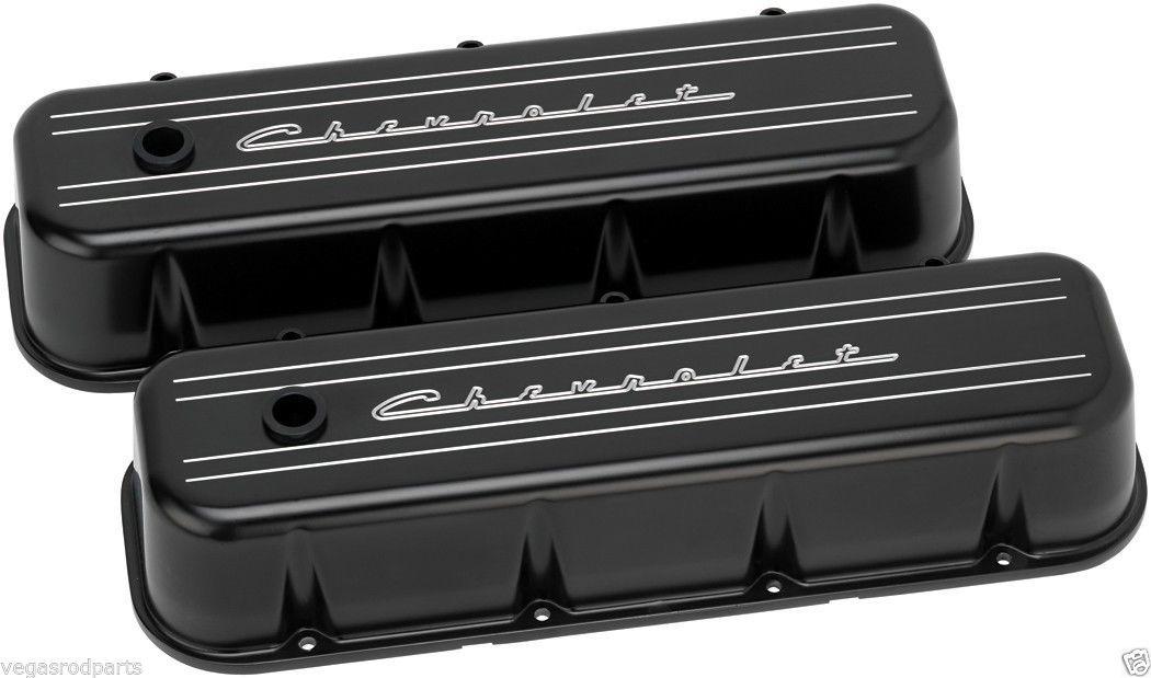Billet Specialties Chevrolet Script Black Aluminum Big Block