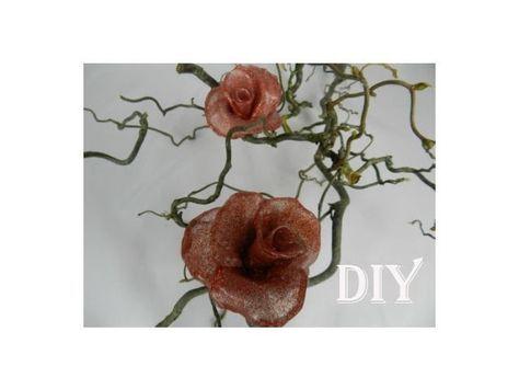DIY: Heißkleber Deko - Rosen. hot glue deco roses