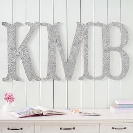 Large Wall Mounted Letters Vinyl Wall Decals Removable Wall Decals & Dorm Wall Décor